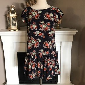 Pins and Needles UO Navy Floral Dress